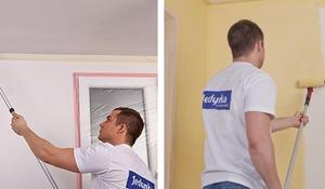 KROK I - Gruntowanie sufitu i ścian przed malowaniem