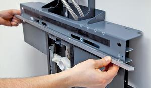 KROK XV - Przymocowywanie aluminiowych szyn