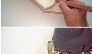 KROK III – Zaokrąglanie nóg krzesła
