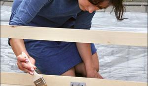 KROK XI - Malowanie drewnianej ławki